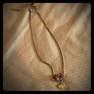 Jewelry - Arkansas Razorback necklace